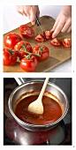 Making tomato puree