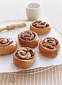 Chocolate and hazelnut buns