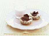 Small chocolate cheesecakes