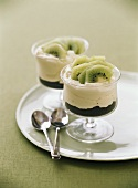 Kiwi fruit dessert with mascarpone cream