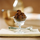 Chocolate-coated macadamia nuts