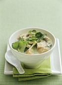 Salmon and coconut soup (Asia)