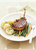 Grilled veal cutlet