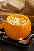 Pumpkin soup with white beans