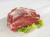 Raw neck of pork with bone
