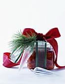Orange and pomegranate jam