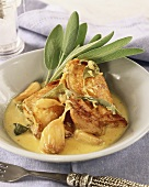 Chicken with sage and onion