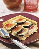 A piece of fig tart