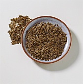 Caraway seed in a small bowl