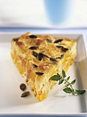 Pumpkin quiche with bacon