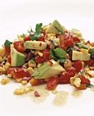 Avocado, pepper and sweetcorn salad