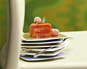 Fruit terrine with agar
