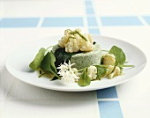 Spinach mousse with cauliflower