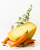 Semi-hard cheese with thyme and chili pepper