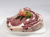A slice of forerib of beef