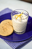 Syllabub (whipped cream with wine, lemon and sugar, England)