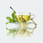 Mint tea in a cup
