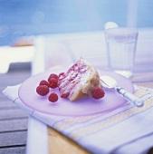 A piece of raspberry charlotte