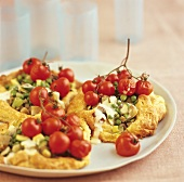 Puff pastries with vegetables