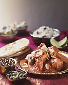 Chicken Tikka Masala with flaked almonds