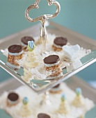 Petit fours on a tiered stand