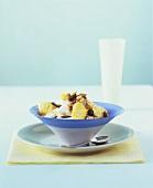 Muesli with yoghurt and pineapple