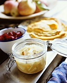 Apple compote to serve with pancakes