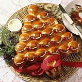Bread roll Christmas tree