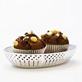 Macadamia and chocolate muffins