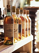 Several bottles of sweet wine, Sauternes
