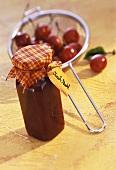Cherry and almond jam