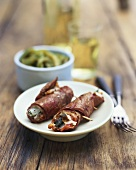 Involtini alla romana (Veal rolls with ham and sage)