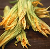 Several courgette flowers