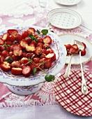 Berry salad with custard