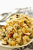 Fried rice with fruit and nuts