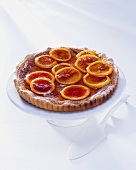 Orange tart with candied oranges