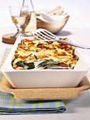 Chard and cabbage lasagne