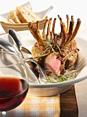 Crown roast of lamb with tarragon