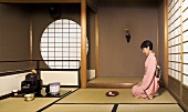 Japanese woman at a tea ceremony