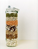 Assorted pulses in a jar