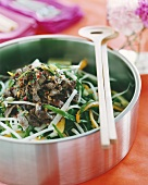 Meat salad with vegetables (Asia)