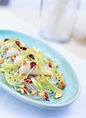 Glass noodle salad with cod