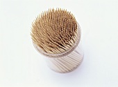 Toothpicks in plastic tub