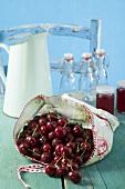 Cherries and cherry jelly