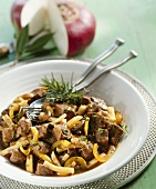Wild boar ragout with white turnips
