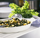 Kale with vegetables