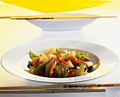 Mixed vegetables with asparagus