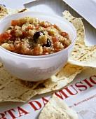 Aubergine caviar in a small bowl