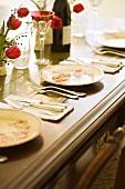 Festively set Table