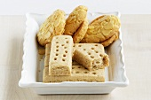 Shortbread biscuits and almond butter biscuits
